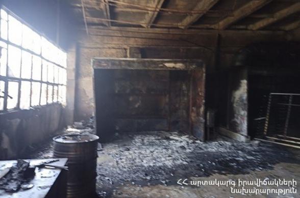 «Զեյթունի կահույքի ֆաբրիկա»-ի տարածքում հրդեհ է բռնկվել