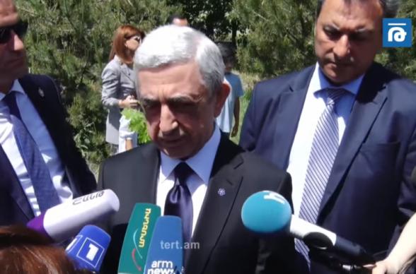 Отсутствие в списке не означает неучастия в выборах – Серж Саргсян (видео)