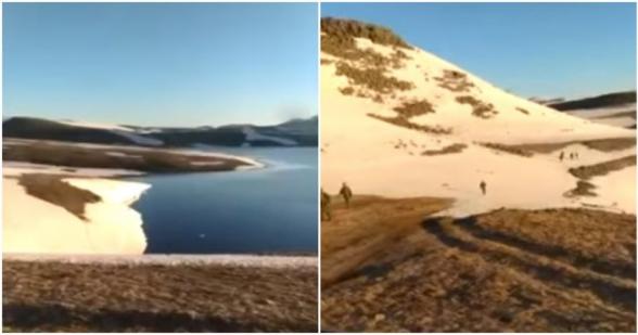 Азербайджанцы опубликовали видео, сделанное у Черного озера в Сюникском марзе Армении