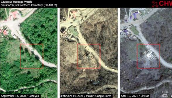 Ադրբեջանցիներն ավերել են Շուշիի գերեզմանատան մեծ մասը