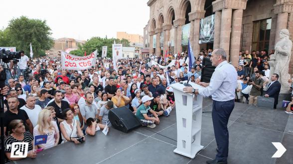 Митинг блока «Армения» в Арташате (видео)