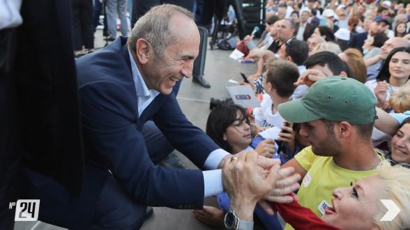 Митинг блока «Армения» в Гюмри (видео, фото)