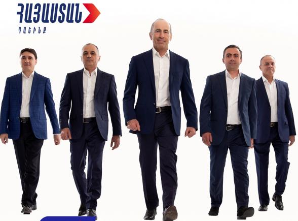 Победная кампания блока «Армения» будет подытожена сегодня в 19:00 на площади Республики
