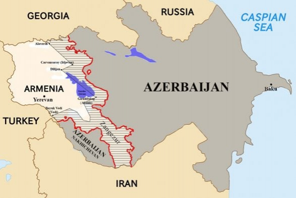Ադրբեջանի երազած Հայաստանը պատկերված է այս «քարտեզում»