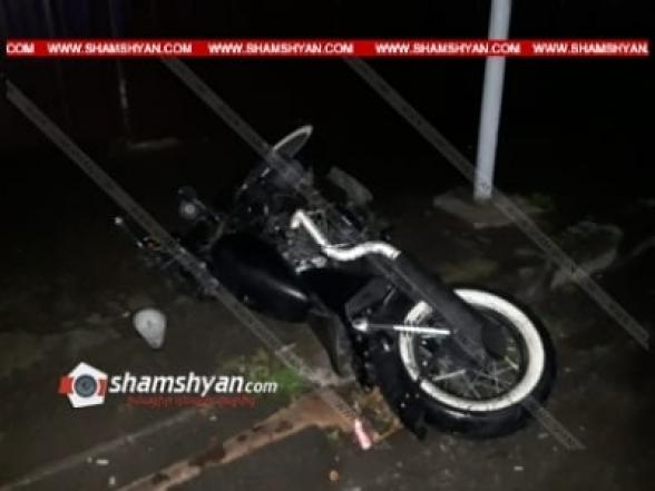 30-ամյա մոտոցիկլավարը Վանաձորում կողաշրջվել է և տեղում մահացել