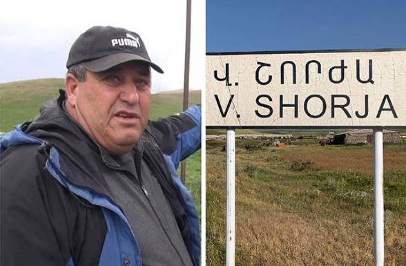 «Բա ո՞նց խուճապ չի լինի․ ադրբեջանցիներից 300-400 մետր հեռավորության վրա ապրողը չի՞ անհանգստանա»․ Վերին Շորժայի գյուղապետ