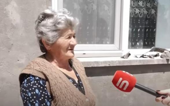Сбитый в Гегаркунике азербайджанский БПЛА упал во дворе сельского дома (видео)