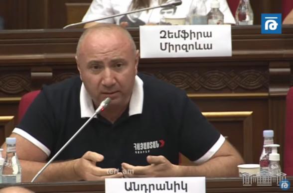 «Հայաստան» դաշինքի կալանավորված պատգամավորները պետք է դուրս գան պատանդի կարգավիճակից․ նրանց հարցում տեղի է ունենում «ալիևություն»․ Անդրանիկ Թևանյան (տեսանյութ)