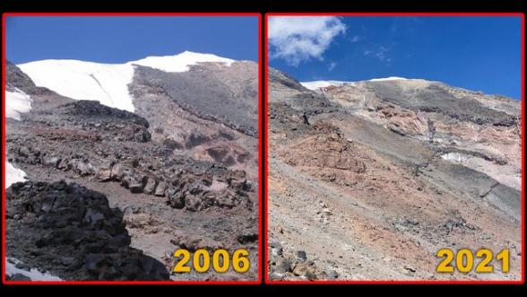 Արարատ լեռան մշտական ձյունածածկ հատվածները հալչում են