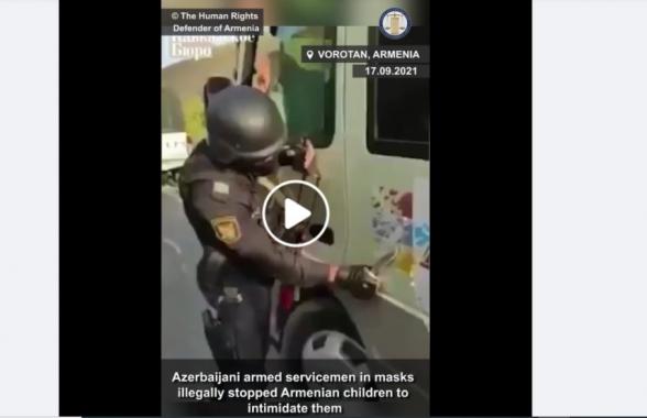 Детям из остановленного азербайджанцами автобуса было по 15-16 лет – омбудсмен (видео)