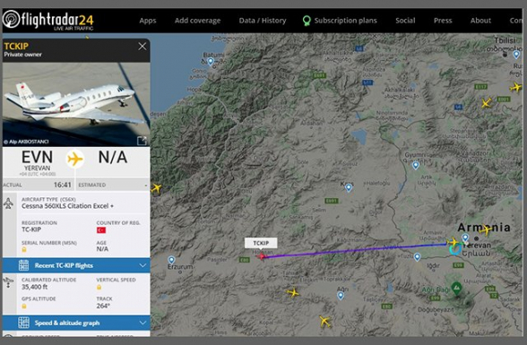 Թուրքական մասնավոր ինքնաթիռ է Երևան վայրէջք կատարել (տեսանյութ)