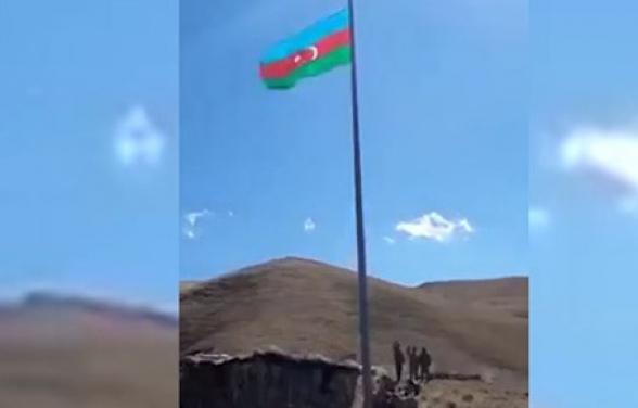 Ադրբեջանցիները Վերին Շորժայի հատվածում բարձրացրել են իրենց դրոշը (տեսանյութ)